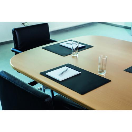 Durable Conference Desk Mat,Black