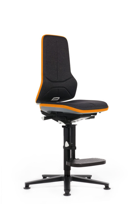 Neon 3 Industrial Swivel Chair With Glides and Footrest