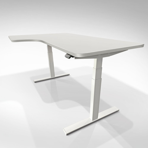 EFurnit Pro Linak Standing Corner Desk With integrated Bluetooth Technology, Mobile App and Intuitive Desk Assembly
