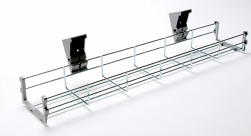 1.6m long under desk basket / cable tray with fixings- Available in 7 lengths from 600 to 1800 mm
