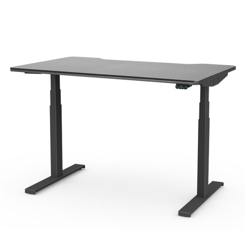 UPPSPEL Comfortable Height Adjustable Ergonomic Gaming Sit/Stand Electric Desk Black 140x80cm or 180x80cm - Linak frame - DPG1 Controller with Bluetooth and Mobile App
