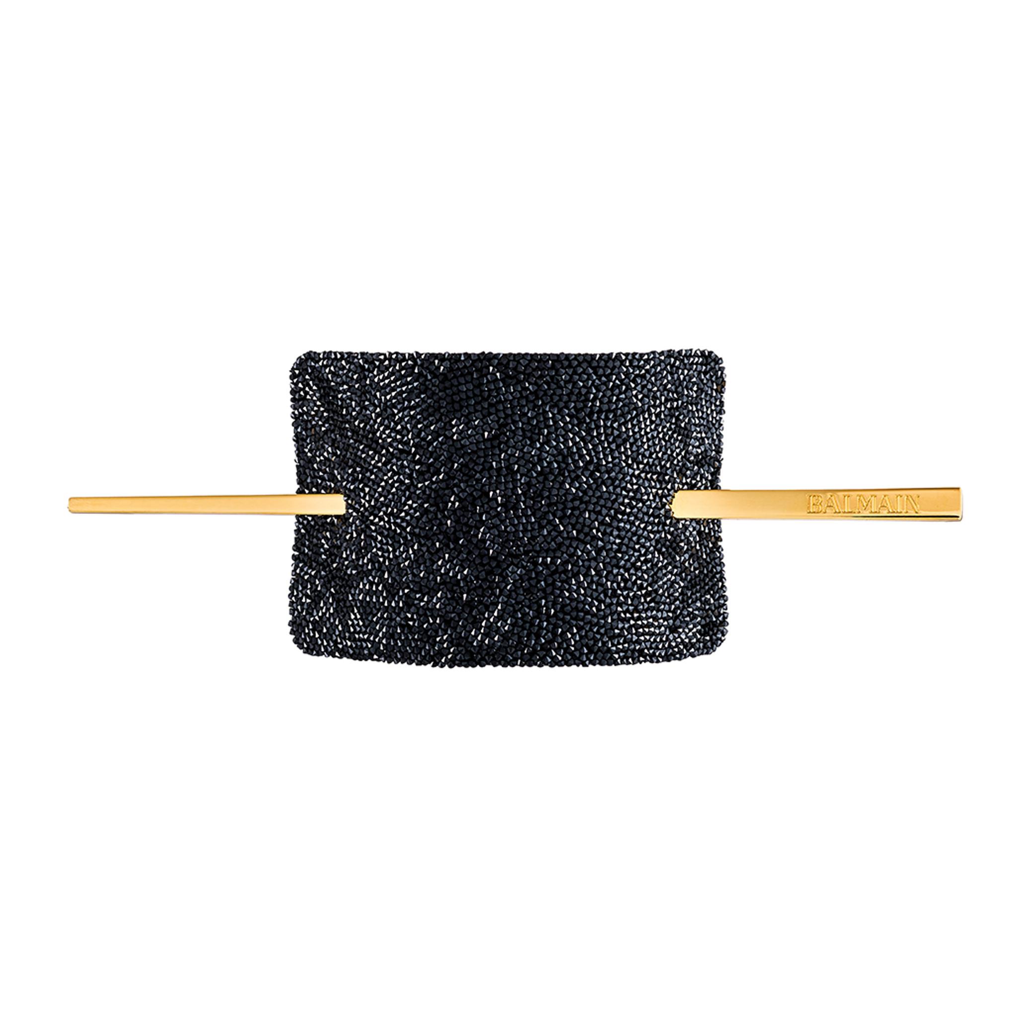 LUXURY HAIR BARRETTE CRYSTAL BLACK (Limited Edition) by Balmain Paris Hair Couture