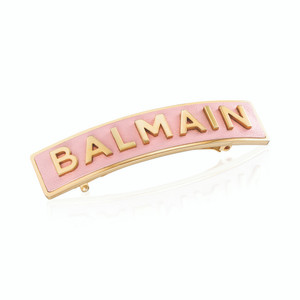 MEDIUM BARRETTE PASTEL PINK WITH GOLD LOGO (Limited Edition SS20)