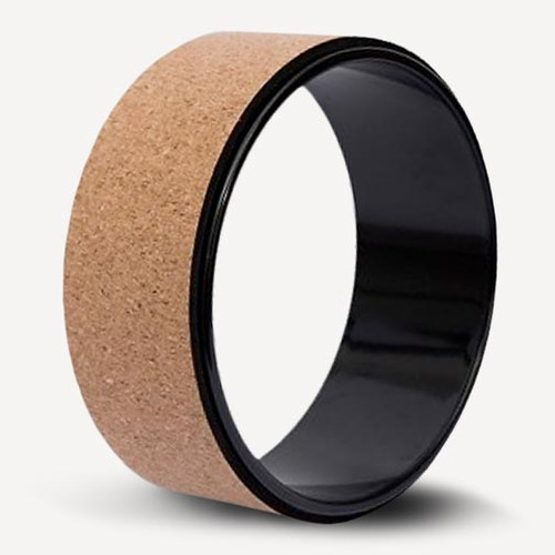 Cork Yoga wheel - round yoga prop with natural cork cover - product image