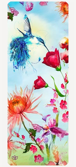 wildflowers microfibre yoga mat design - full view