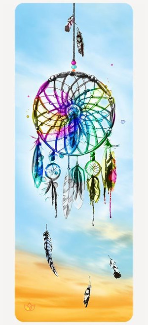 Dreamcatcher microfibre yoga mat design - full view