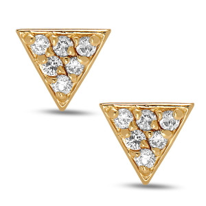 Balance Diamond Stud Earrings