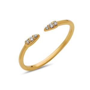 Flare Diamond Ring,  Adjustable