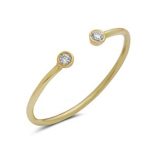 Diamond Open Bezel Ring