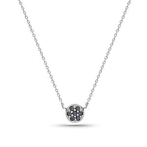 Sunshine Necklace, with Black Diamonds