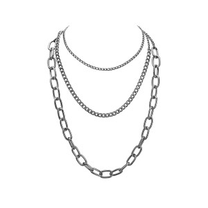 3 in 1 Heavy Chain Necklace