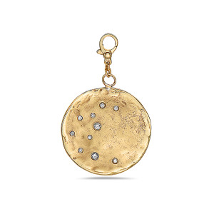 Scattered Diamond Celestial Pendant with Clasp, 14K