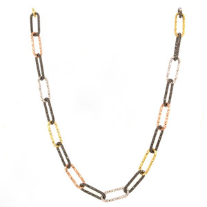 Multicolored Chain Necklace, 36""