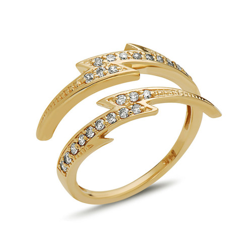 Bolt Diamond Ring
