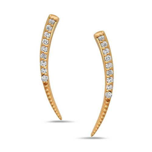 Blaze Diamond Ear Climbers