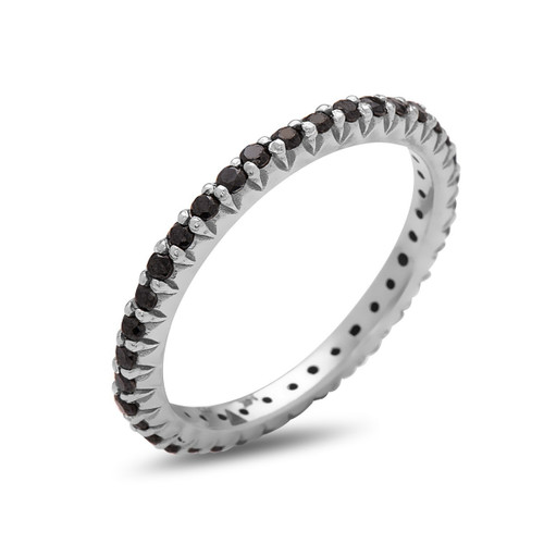 Embrace Band with Black Diamonds