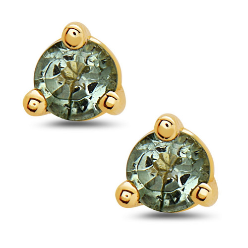 Bliss Stud Earrings, Green Tourmaline