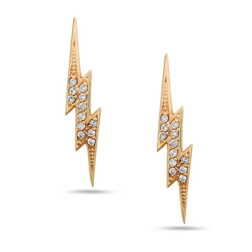 Bolt Diamond Ear Climbers