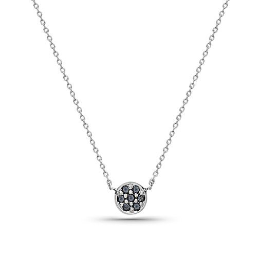 Sunshine Necklace with Black Diamonds