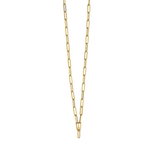 14K Yellow Gold Paperclip Chain