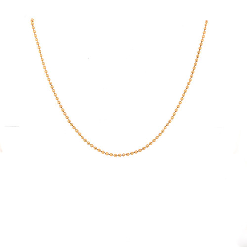 14K Gold Ball Chain, 1.5 mm