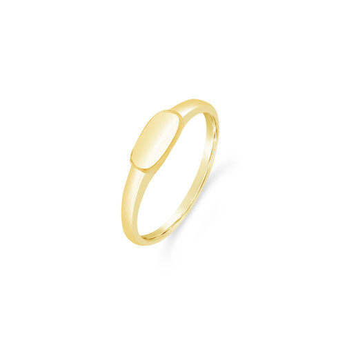Petite Signet Ring, Engraved