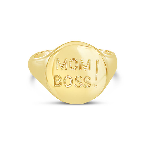 Mom Boss Signet Ring, Customizable
