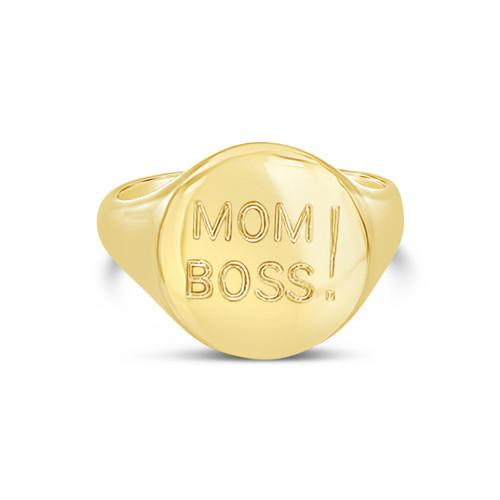 Mom Boss Signet Ring, Customizable