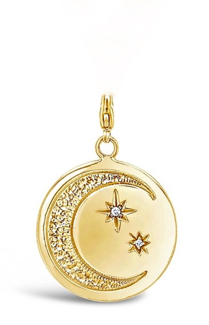 Moon and Stars Pendant with Clasp, 14K (Pendant Only)