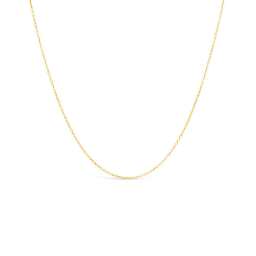 14K Diamond Cut, Fine Cable Chain