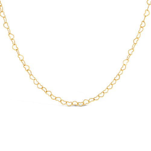 Shiny Heart Necklace, 14K Gold Filled