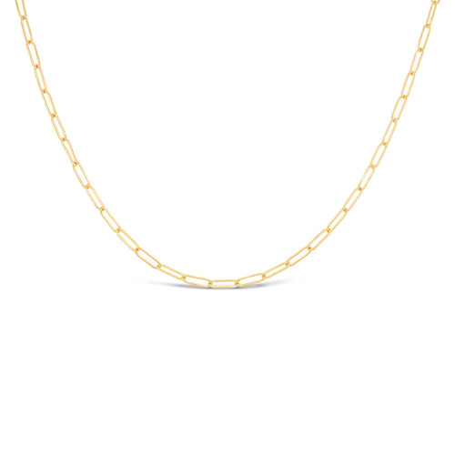 14K Mini Paperclip Chain