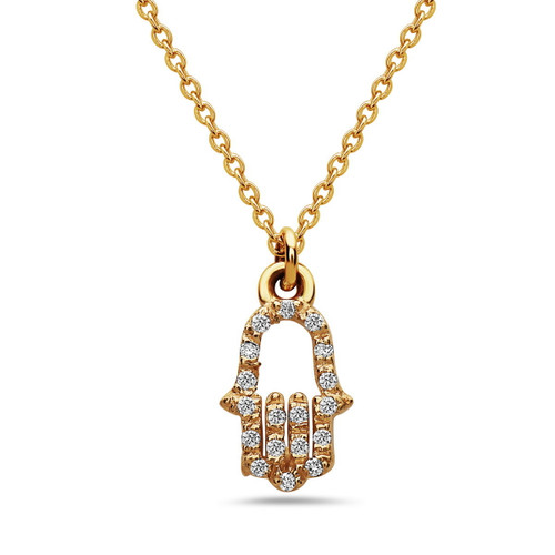 Diamond Hamsa Pendant (Pendant Only)