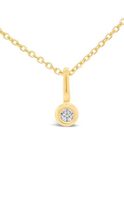 Petite Diamond Bezel Pendant (Pendant Only)