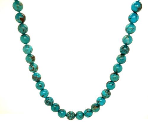 Sleeping Beauty Turquoise Bead Necklace