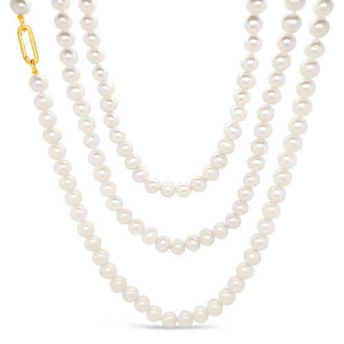 Natural, Freshwater Pearl Necklace (double or triple strand)