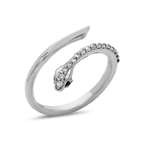 Boa Diamond Snake Ring
