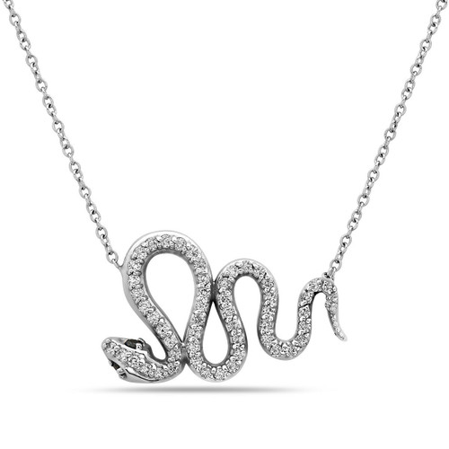 Viper Diamond Snake Necklace