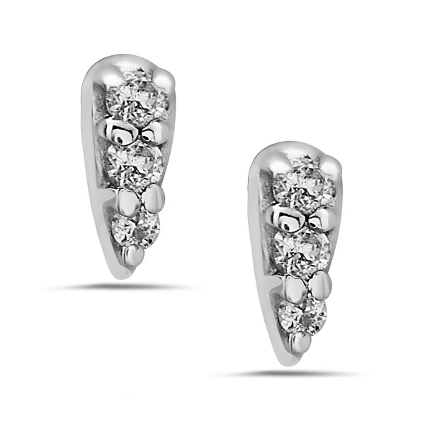 Flare Petite Diamond Stud Earrings