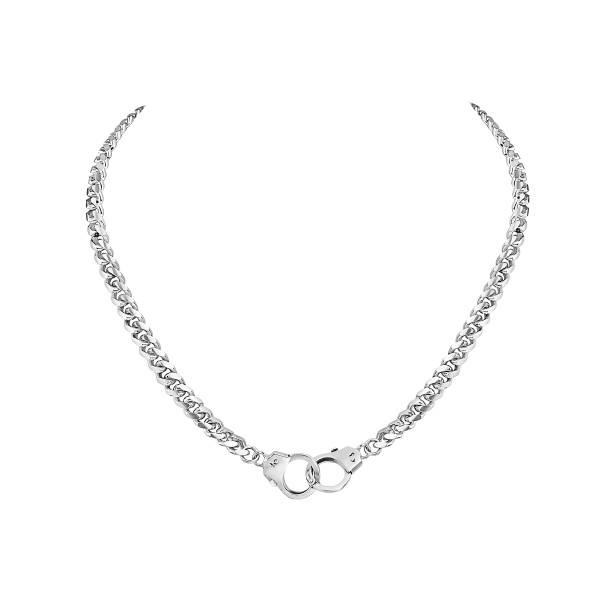 Handcuff Clasp Necklace, 16""