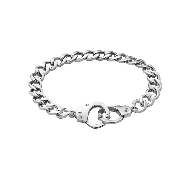 Handcuff Clasp Bracelet, Sterling Silver