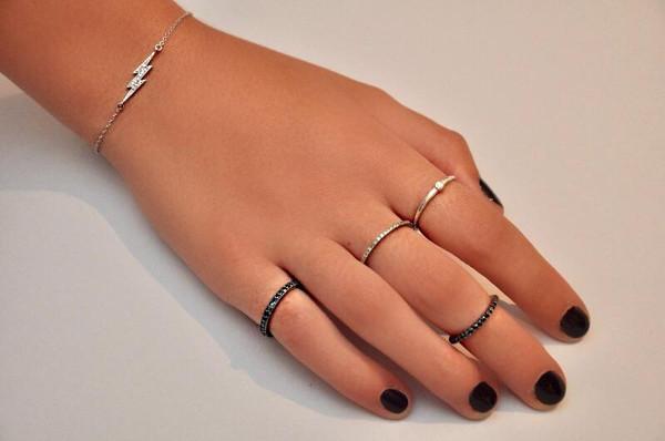 Dusk Black Diamond Ring