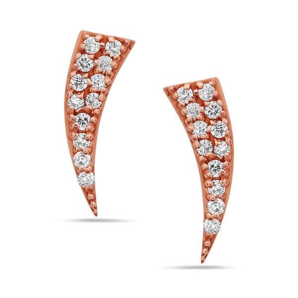 Ganesha Diamond Ear Climbers
