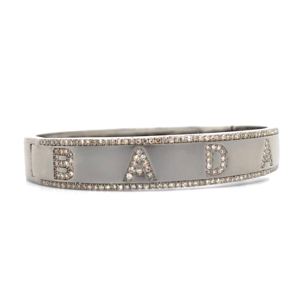 BADASS Pave Bracelet with magnetic clasp