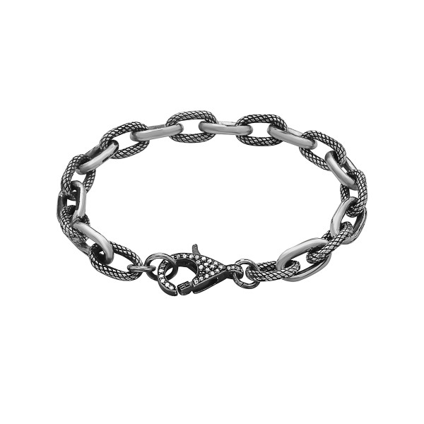 Rock & Roll Bracelet with Pave Clasp