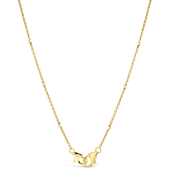 Mask Chain with Double Clasps, 14K Gold Filled with Sterling Silver Beads