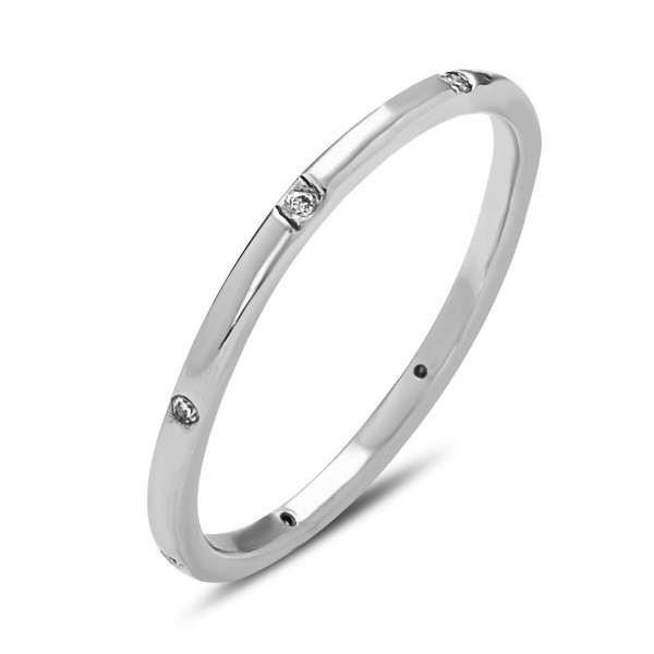Halo Diamond Ring, Stackable