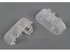 W441-20199  C Track End Piece with Transparent Roadbed -- 10 Pack