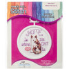"""998-5037 Home Is Where The Cat Is Mini Counted Cross Stitch Kit-2.5"""" Round 18 Count"""