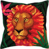 CD5300  Collection D'Art Stamped Needlepoint Cushion Kit 40X40cm-Night Jungle II